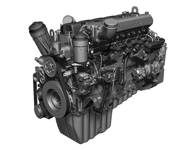 מנוע מתוצרת דיימלר המשמש במשאיות מרצדס בנץ