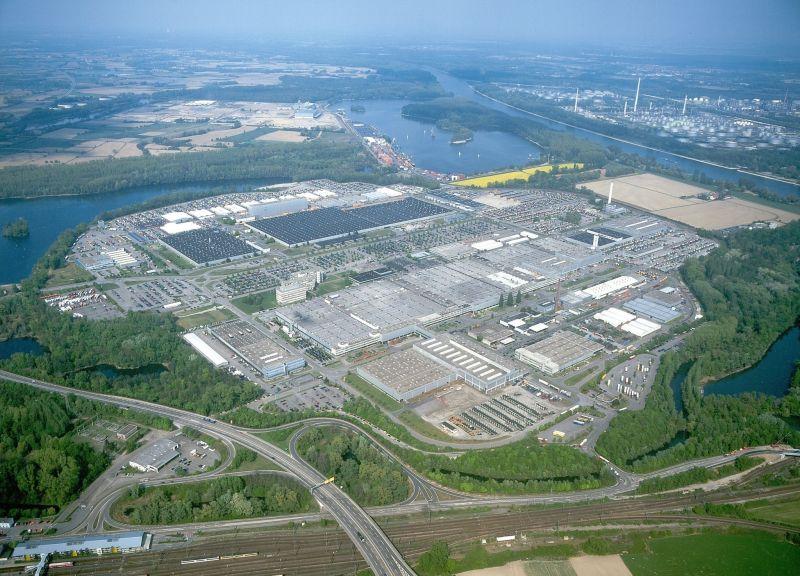 מפעל הענק של מרצדס ב-Woerth ממוקם על שטח של כ-2,500 דונם