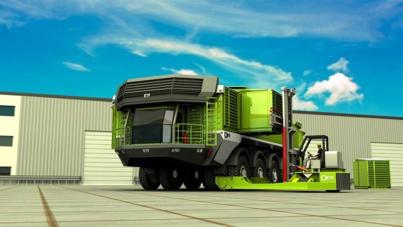 קונספט משאית מכרות ETF