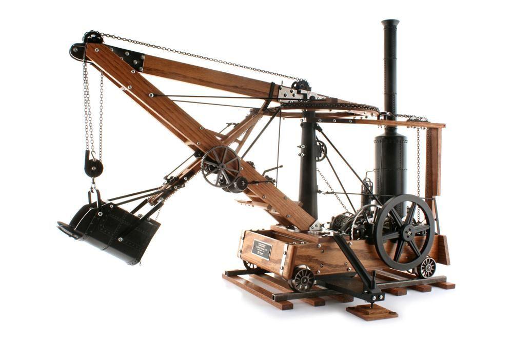 רפליקה מדוייקת של מחפר הקיטור המהפכני של אוטיס מ-1841. שלכם בתמורה ל-4,500$, לא כולל משלוח