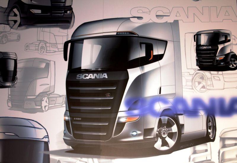 סקניה בהשראת משאית מרוץ; בהחלט מציעה 'אפקט הגעה' מרשים...