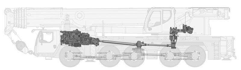 מנוף ליבהר LTM 1160-5.2 - מנוע אחד במקום שניים ששירתו בדגם הקודם