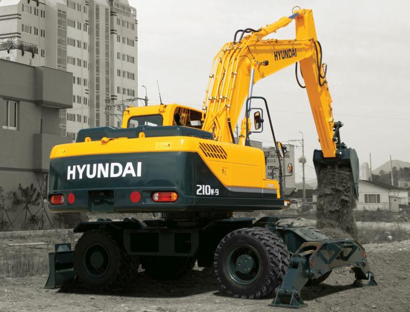 מחפר אופני יונדאי R210W-9A
